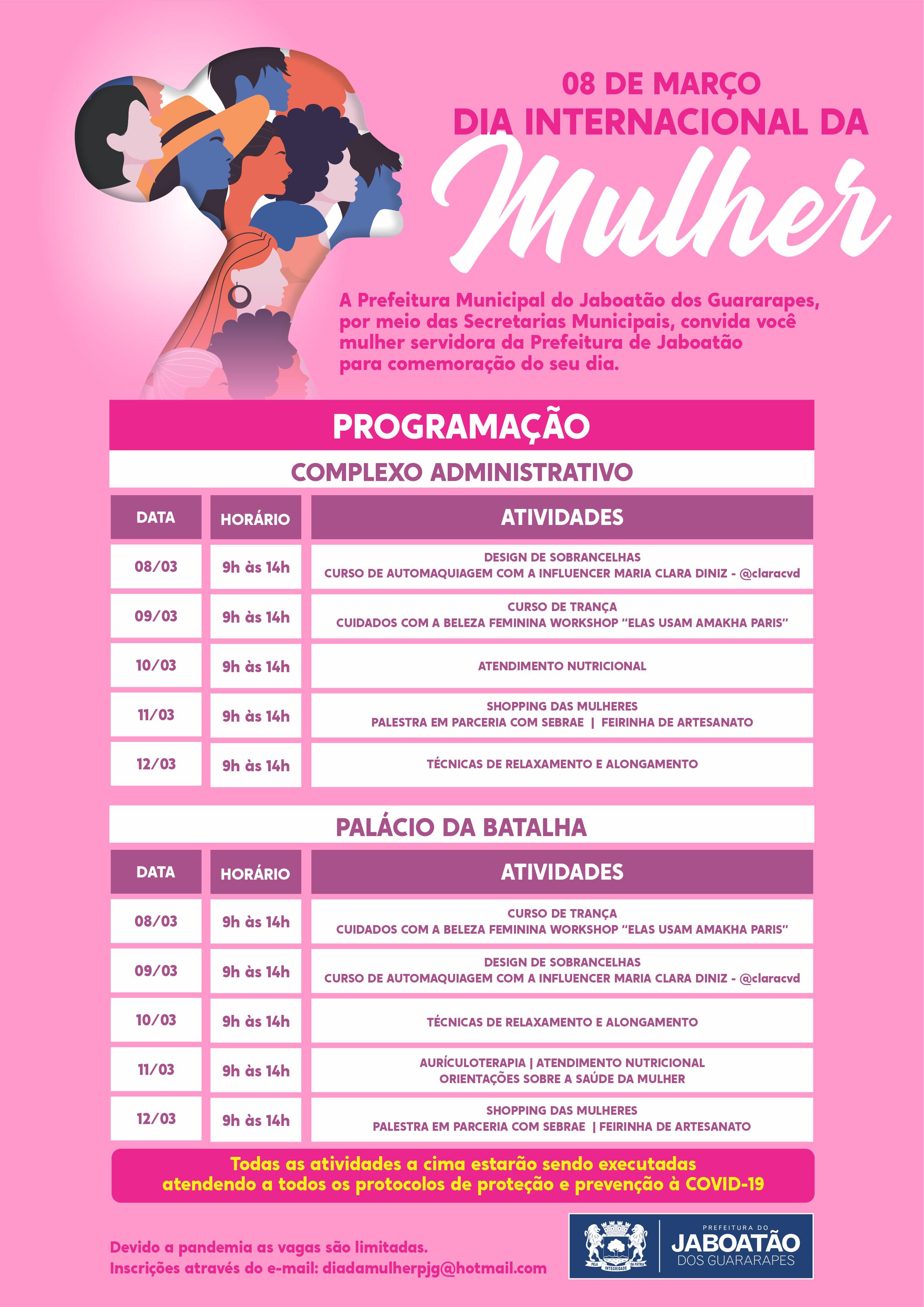 Read more about the article Confira a Programação para o Dia Internacional da Mulher