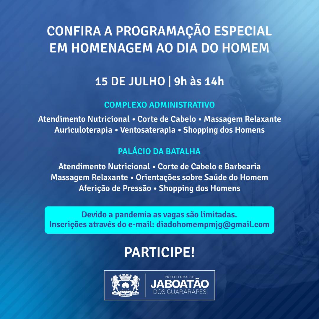 Read more about the article CONFIRA A PROGRAMAÇÃO ESPECIAL EM HOMENAGEM AO DIA DO HOMEM